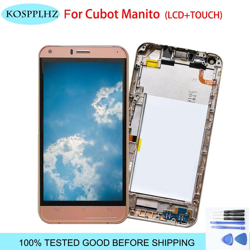 KOPPLHZ d'origine 100% testé Pour cubot manito écran lcd + numériseur à écran tactile écran en verre Remplacement 5.0 téléphone + outils