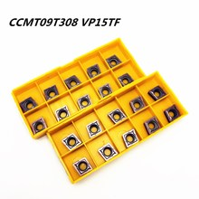 Carbide insert CCMT09T308 CCMT32.51 VP15TF inner round tool CCMT 09T308 end milling cutter lathe tools milling cutter CNC tool 10pcs lathe tool ccmt09t304 ccmt32 51 vp15tf carbide insert inner wheel cutter ccmt 09t304 face milling cutter cnc tool