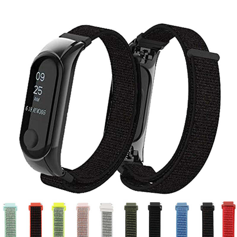 Mi Band 3 4 Strap Wristband nylon Bracelet Smart watch Band Accessories wrist mi Band3 for Xiao mi mi band 3 4 wristband