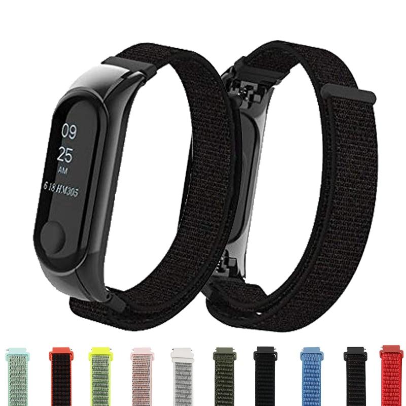 Mi Band 3 4 Strap Wristband Nylon Bracelet Smart Watch Band Accessories Wrist Mi Band3 For Xiao Mi Mi Band 3 4 Wristband