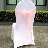 25pcs Wedding Chair Sashes Bow Cover Chair Sashes For Weddings Birthday Party Banquet Event New Year