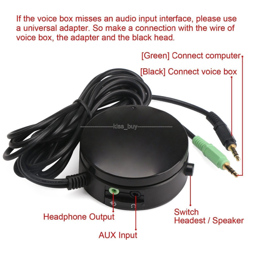 PC Speakers/ Headphones Audio Switch Converter Volume Controller For Switching Back And Forth Between 3.5MM