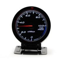 2.5 60MM 12V Car Gauge Meter Fuel Pressure Gauge Black Face With Sensor Car Gauge Meter Without Logo