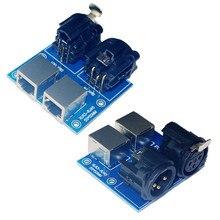 цена на 2019 New Version 1 pcs XLR3-RJ45 DMX512 Relays connector use for DMX-Relays controller led decoder DMX 512 controller RJ45