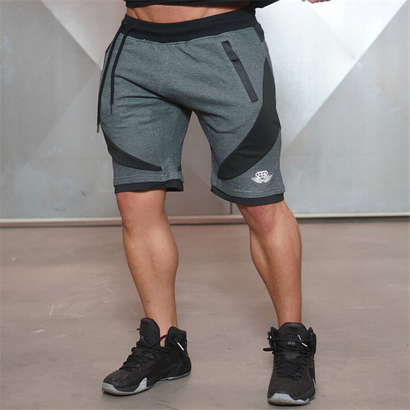 2017 Hot Sale Fashion Comfortable Gyms Shorts Men Beach Trousers Loose Short Style Casual Patchwork Trousers