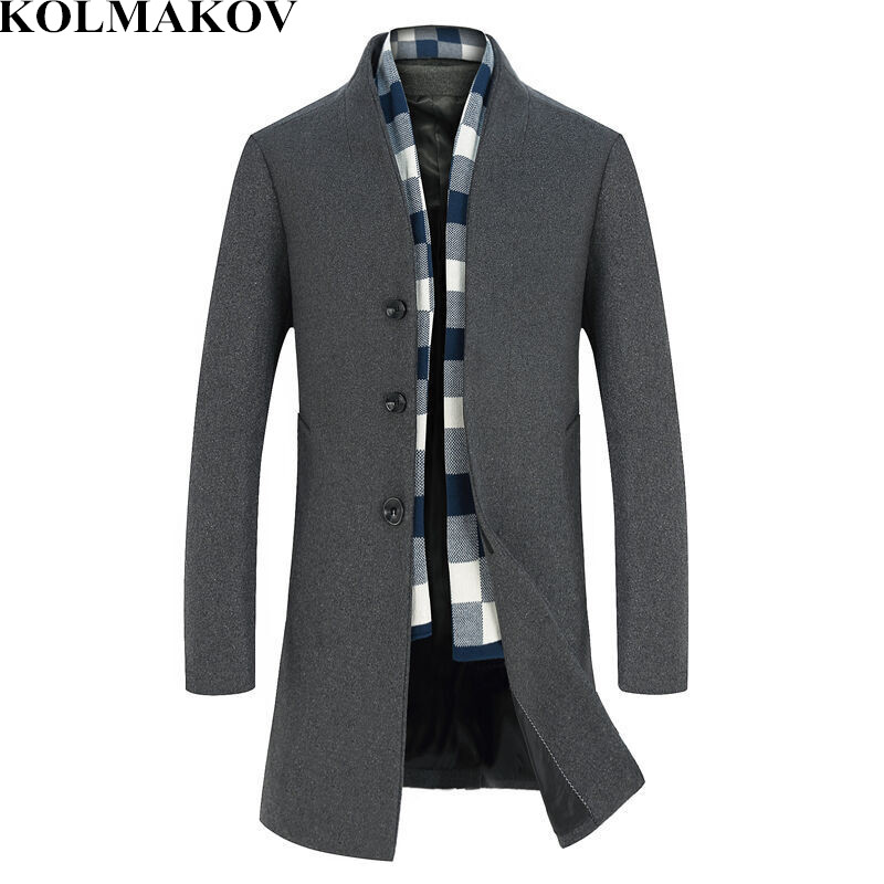 Wool & Blends 2019 Spring New Mens Woolen Jackets Trench Coat Men Mandarin Collars Windbreaker Spring Woolen Overcoat Homme Full Size M-3xl The Latest Fashion