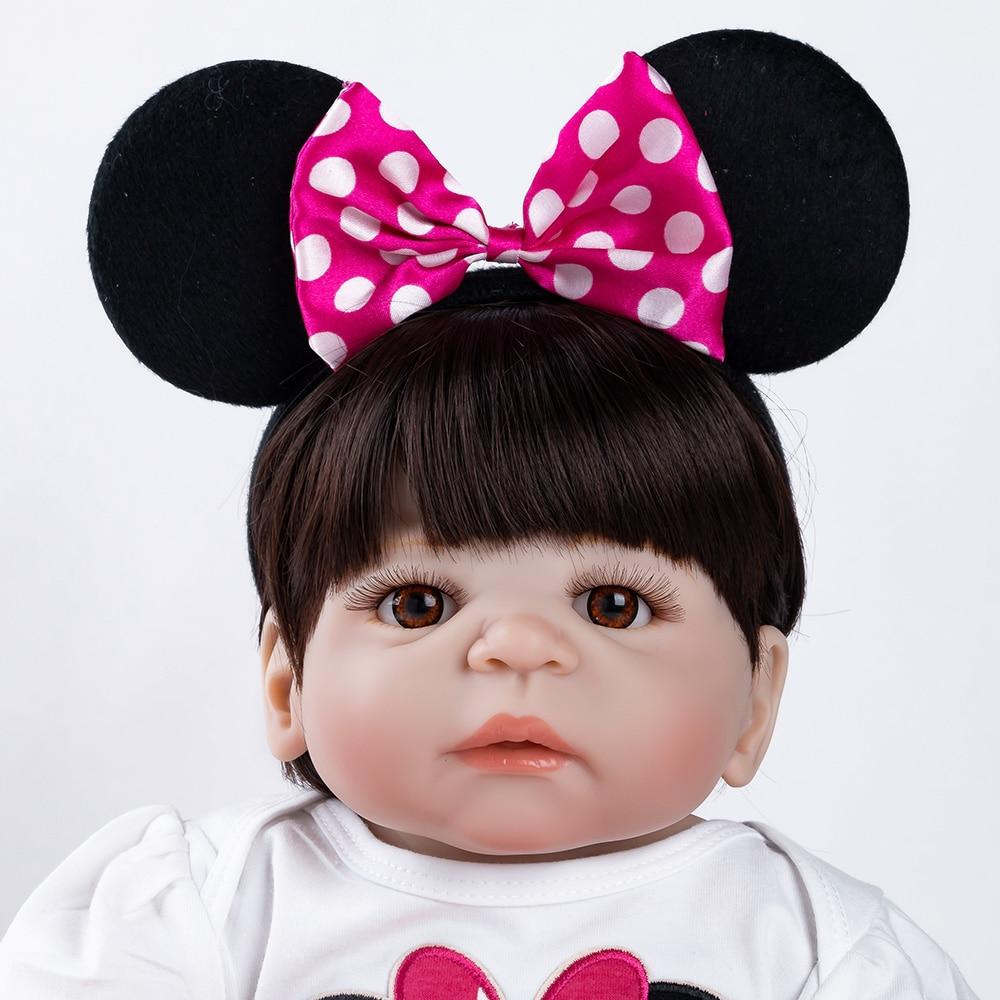 Réaliste Reborn bébé poupée nouveau-né jouets pour enfants cadeaux de noël corps entier Silicone fille Reborn poupées cadeau d'anniversaire - 6