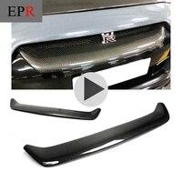 Автомобиль Запчасти R35 OEM Стиль углеродного волокна передняя решетка для Nissan Глянцевая Fibre гриль гонки Body Kit Аксессуары