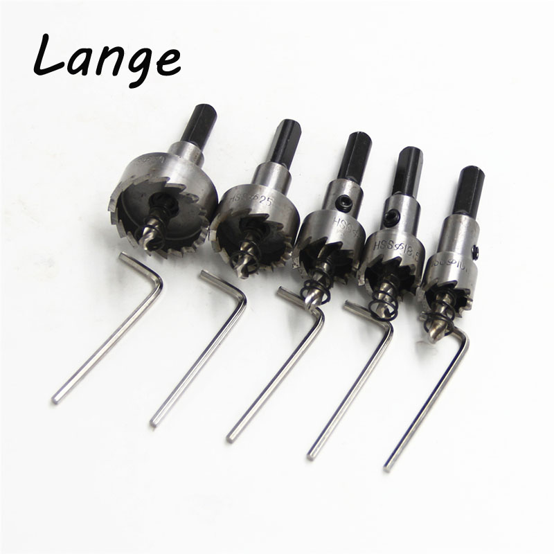 цена на Lange 10pcs/ set Carbide Tip HSS Drills Bit Hole Saw Set Stainless Steel Metal Alloy 16/18.5/20/25/30mm A22