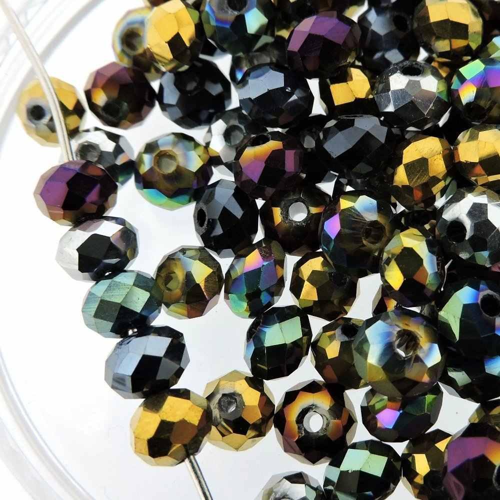 Beauchamp 4*3 Mm 135 Buah Manik-manik Kristal Rondelle Segi Anting-Anting Gelang Jahit Menjahit Busur Simpul Headband Perhiasan Aksesoris