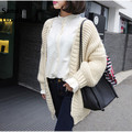 2016 autumn long oversized cardigan women sweaters dark grey brown khaki style jumper basic coats sweater knitted cardigan 037