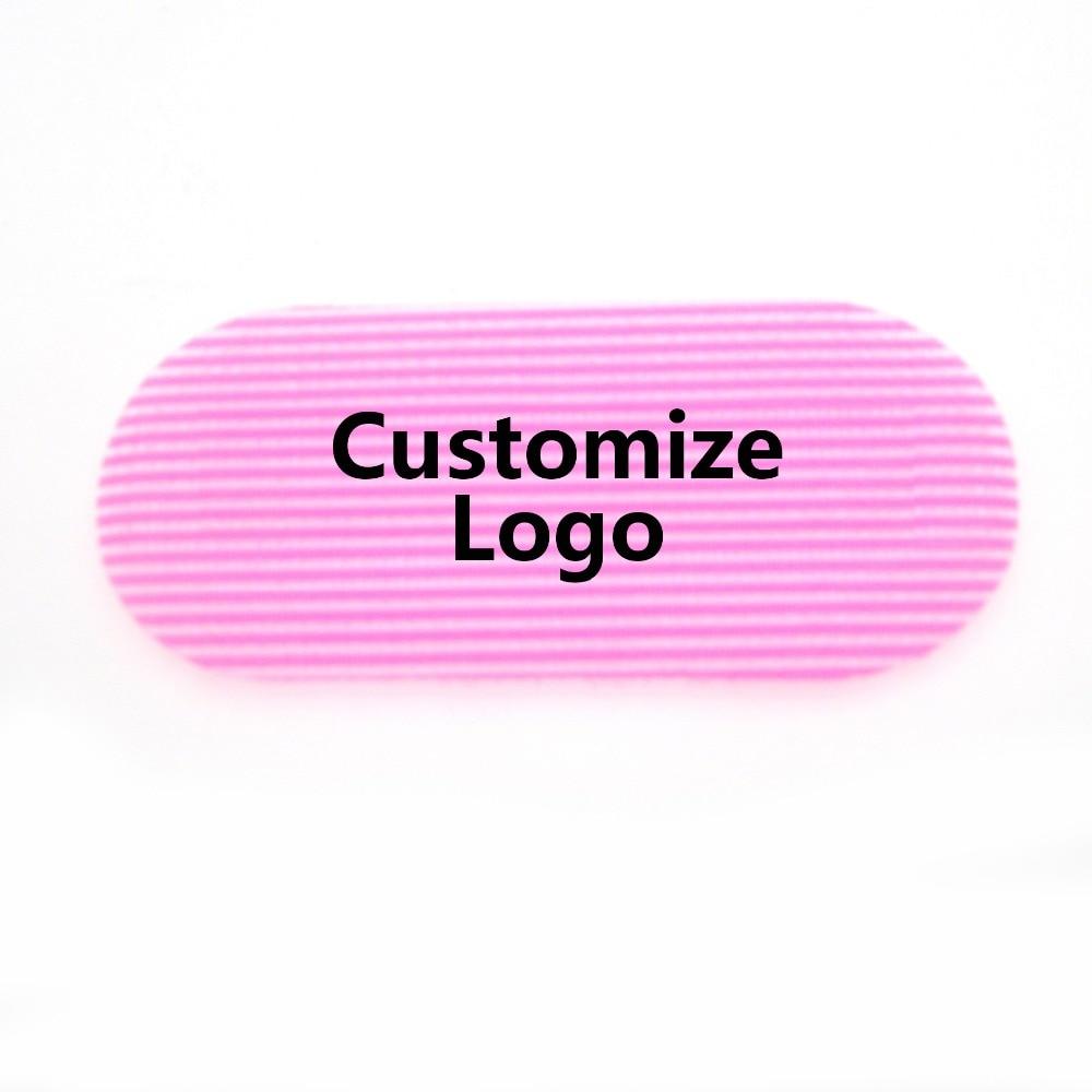 Personalize logotipo adesivos de cabelo prendedores hairpin