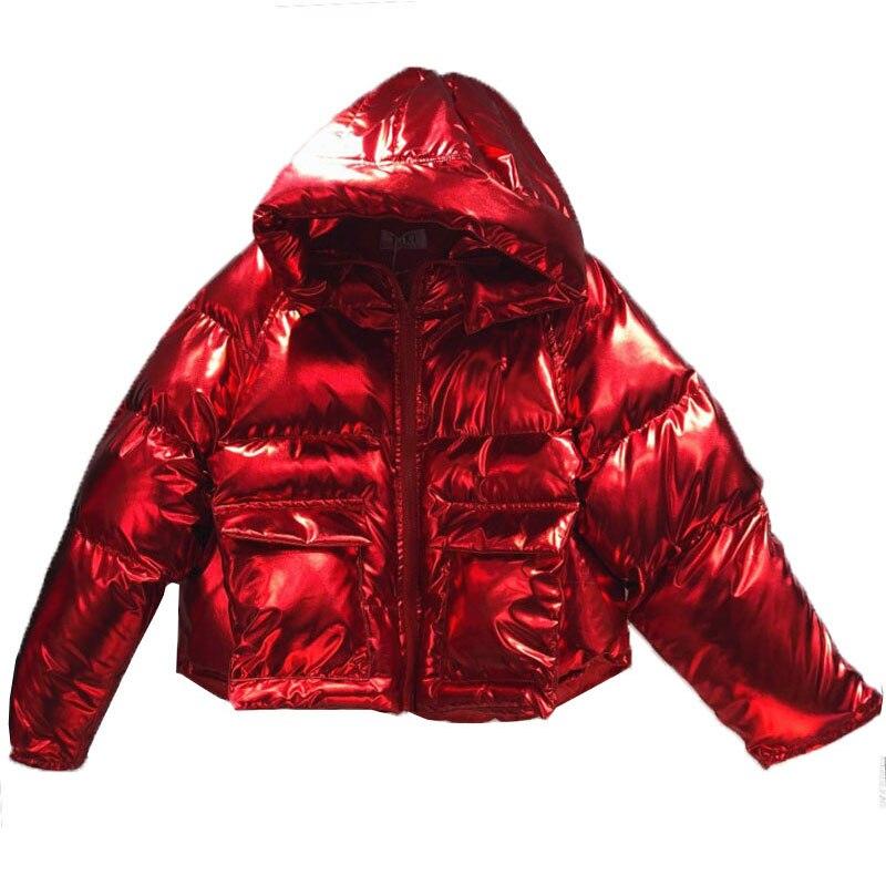 Vers Parka Manteau gray Zipper À Chaud red Manteaux Coton D'hiver Pain Bas Court Le De 723 Femmes Veste Lumineux Étudiant Capuchon silver Bomber Service Lâche Purple ZpH7qg