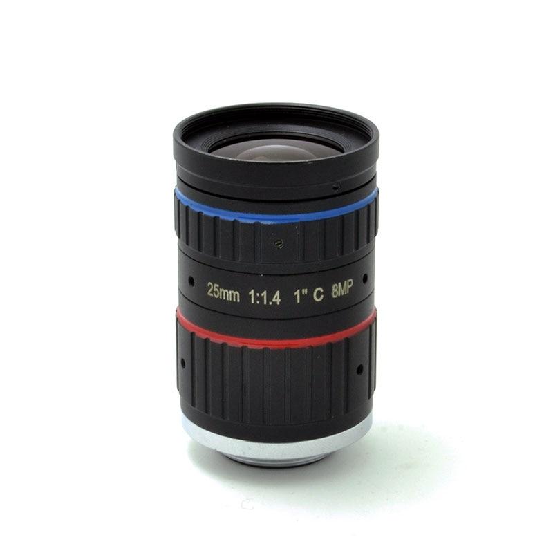 4K 8MP Megapixels 25mm F1 4 C Mount Professional 1 CCTV Lens Industrial Machine Vision Lens