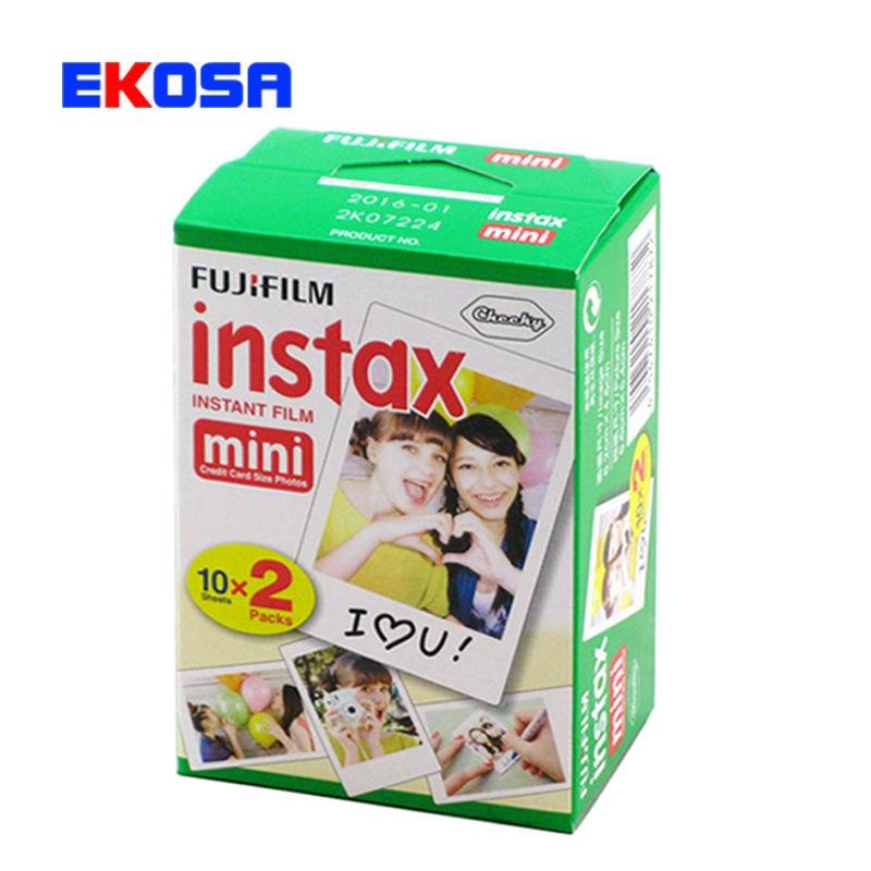 New 20pcs/box fujifilm instax mini 8 film 20 sheets for camera Instant mini 7s 25 50s 90 Photo Paper White Edge 3 inch wide film