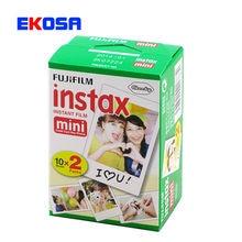 Nuevo 20 unids/caja fujifilm instax mini 8 film 20 hojas para la cámara instantánea mini 7 s 25 50 s 90 Papel Fotográfico Blanco Borde 3 pulgadas de ancho película