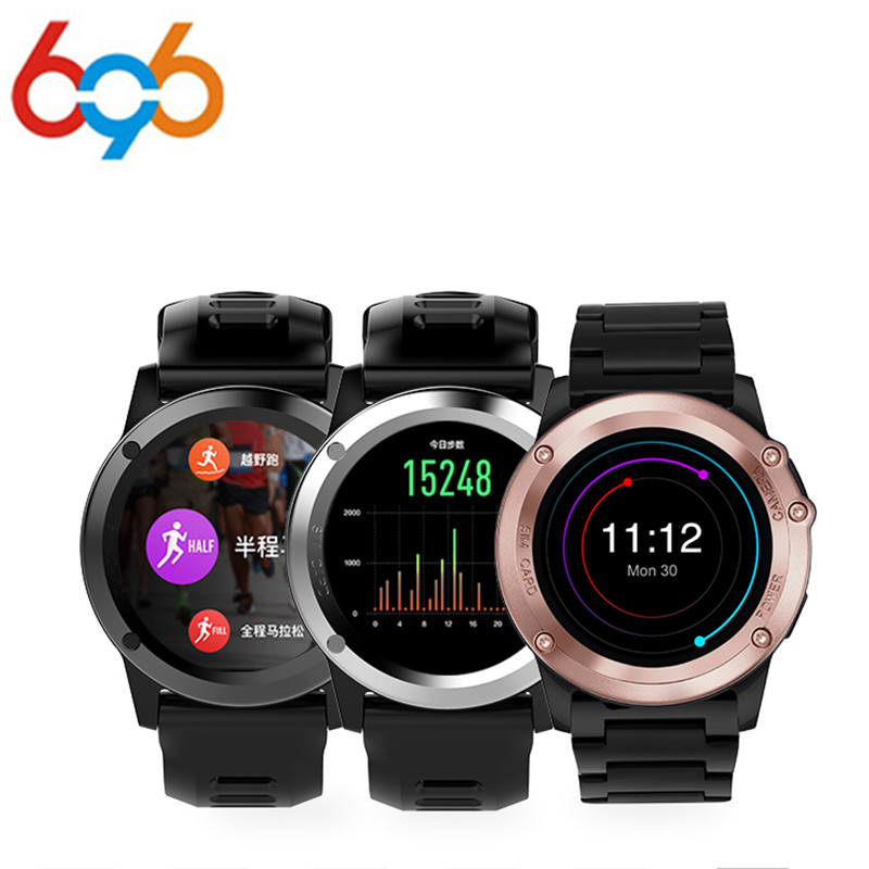 696 Waterproof outdoor sports smart watch H1 MTK6572 Dual Core Android os 5.1 Support 3G SIM card GPS Wifi Compass Fitness Track smart baby watch q60s детские часы с gps голубые