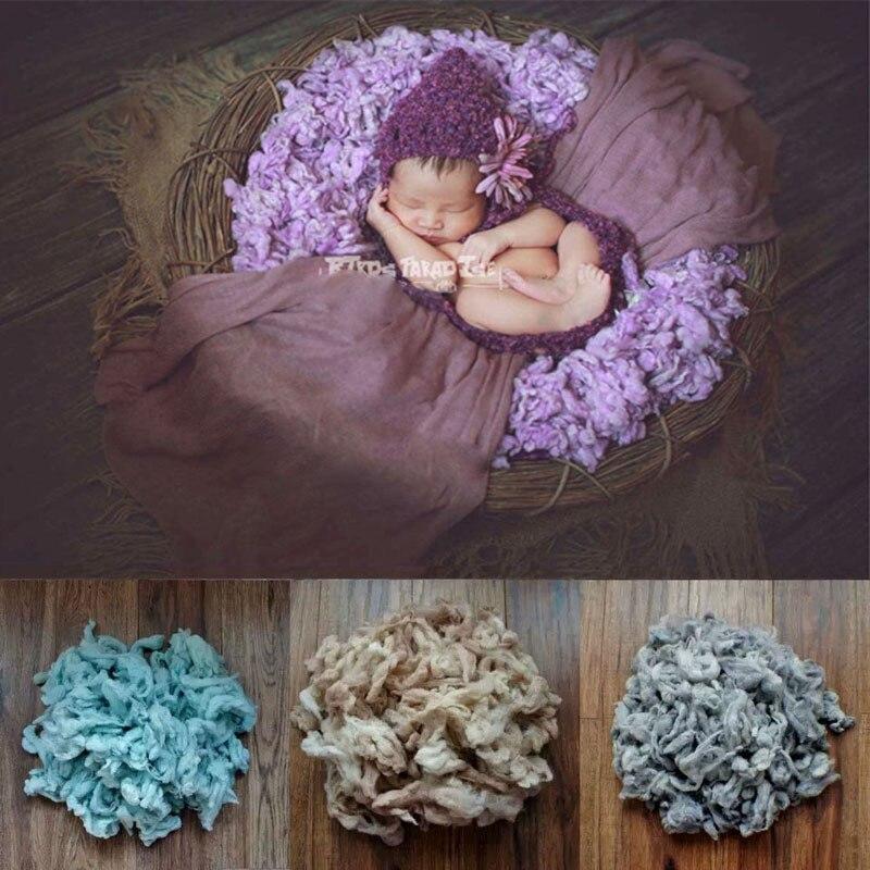100g / beg Baru fotografi Bayi prop bulu yang baru lahir Fotografi prop Pengisi bakul Chunky Selimut bayi yang baru lahir PhotoProps Kusyen X