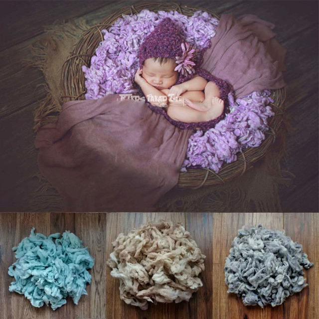 100g/bag New Baby photography props Wool Newborn Photography Props Basket Filler Chunky Baby Blanket Newborn PhotoProps Cushion