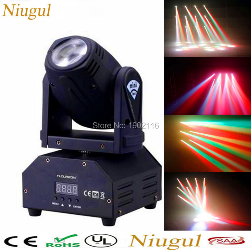 Niugul HOT 10W LED beam/DJ Lighting /10w LED Moving Head DMX512 stage effect Light/LED Beam For Party Lights /led Disco Lamps 10w disco dj lighting 10w led spot gobo moving head dmx effect stage light holiday lights