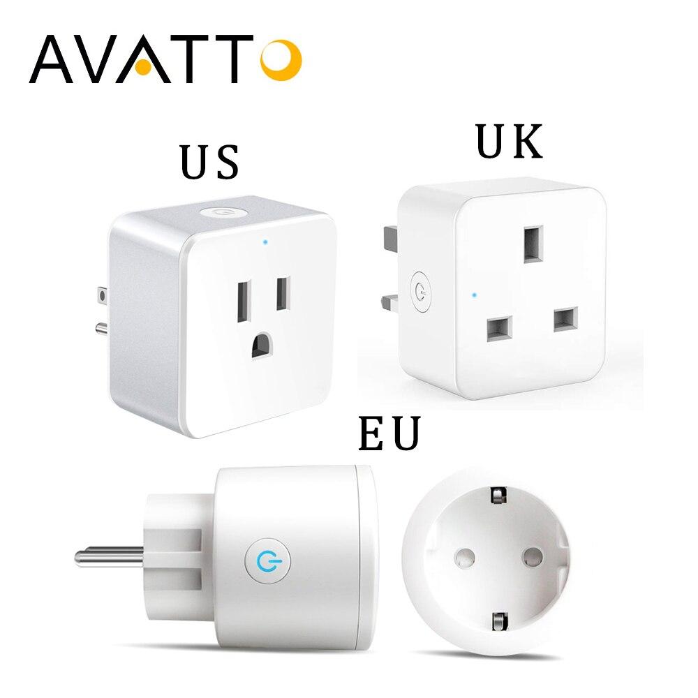 AVATTO 16A enchufe inteligente con Alexa Google casa inalámbrico de Audio Control EU/UK/US Wifi inteligente del zócalo de salida con Android Teléfono IOS