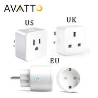 AVATTO 16A Smart Plug with Alexa,Google Home Audio Voice Wireless Control, 2.4G Wifi Smart Socket Outlet with Android IOS Phone