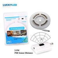 Luckyled ir infravermelho sensor de movimento led night light ativado flexível suave luz de tira luz cama automática para o quarto 1.5 m/3 m