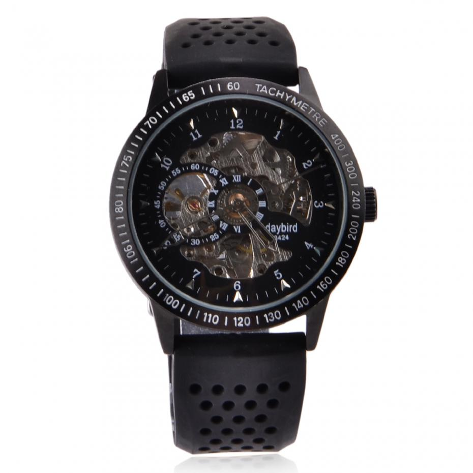 aliexpress com buy relogios masculino watches daybird stainless aliexpress com buy relogios masculino watches daybird stainless steel self winding mechanical wristwatch black watches men luxury brand watches from