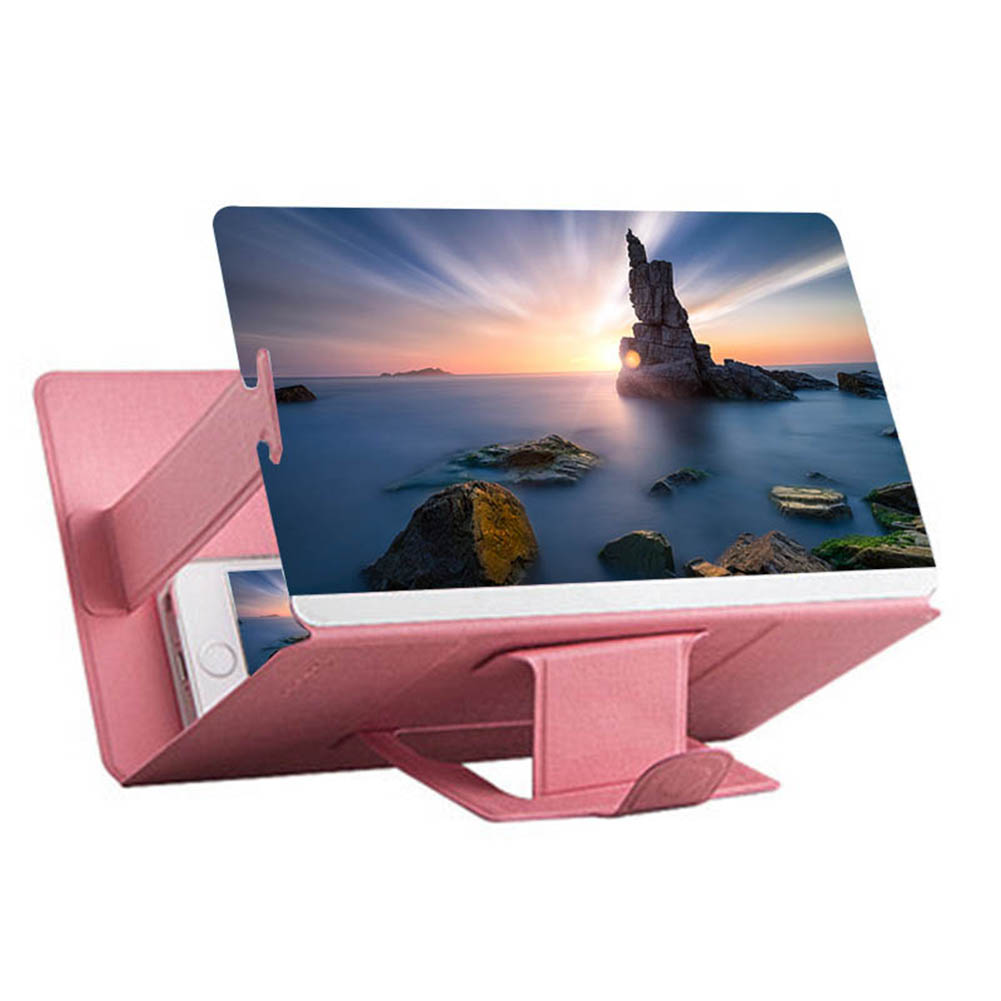 12 Inch 3D Screen Desktop Folding  Bracket Mobile Phone Screen Magnifier 3D HD Video Amplifier Smartphone Holder Stand