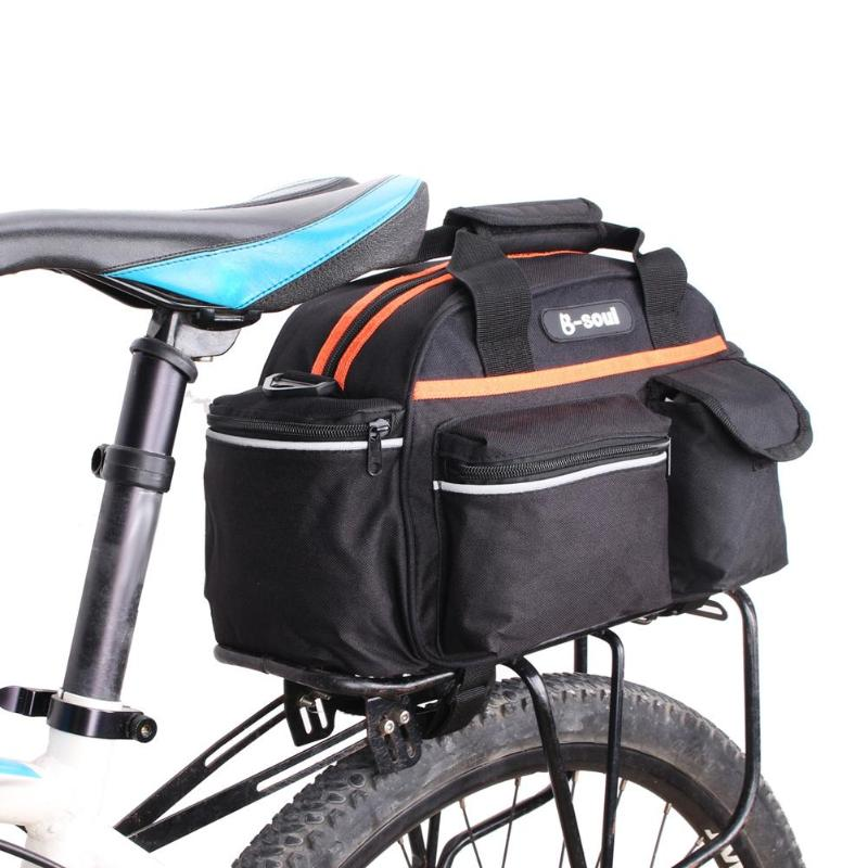 Bicycle Bike Pannier Rear Rack Seat Tail Storage Saddle Bag Pouch Red