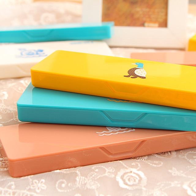 Korea stationery candy color cartoon animal graphic patterns multi-colored pencil case storage box pencil box