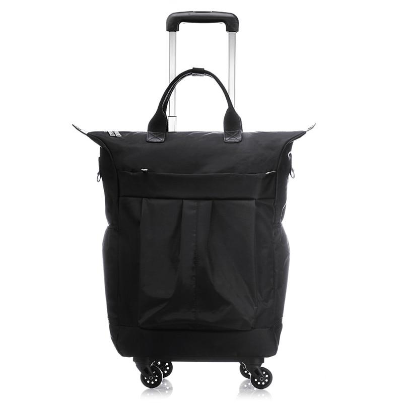 20 inch Men Business Suitcase Boarding Box Computer Trolley Travel Bag Women Rolling Luggage Bags Man Waterproof Wheels Handbag
