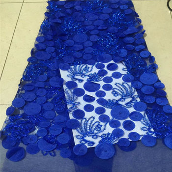African Lace Fabric 2018 High Quality Sequin Lace Fabric Beautiful French 3D Tulle Lace For Nigerian  Lace Wedding Dress