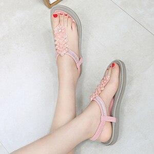 Image 5 - Beyarnesファッション女性ビーチサンダルビーズ女性teenslippers女性の夏の靴通気性の快適なsandalen