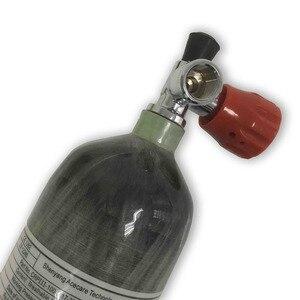 Image 3 - AC121711 Acecare 2.17L Paintball équipement Hpa réservoir cylindre en Fiber de carbone Pcp réservoir dair 300Bar avec vanne de Gague pour pistolet à Air