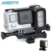 JINSERTA 30 M su geçirmez led Flaş Dolgu Işığı Spot Lamba SJCAM Xiaomi Yi GoPro HERO5 HERO4 Oturumu SJ4000 Kamera Aksesuarları