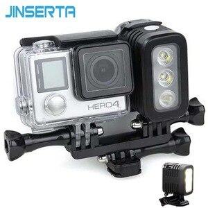 Image 1 - JINSERTA 30M Waterproof LED Flash Fill Light Spot Lamp for SJCAM Xiaomi Yi GoPro HERO5 HERO4 Session SJ4000 Camera Accessories