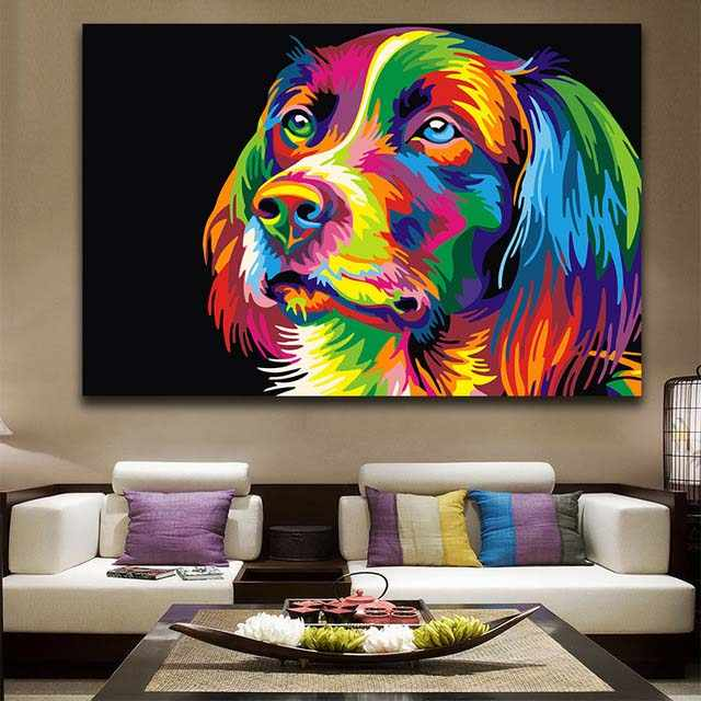 DIY colorings pictures by numbers with colors Painted abstract animal picture drawing painting by numbers framed Home