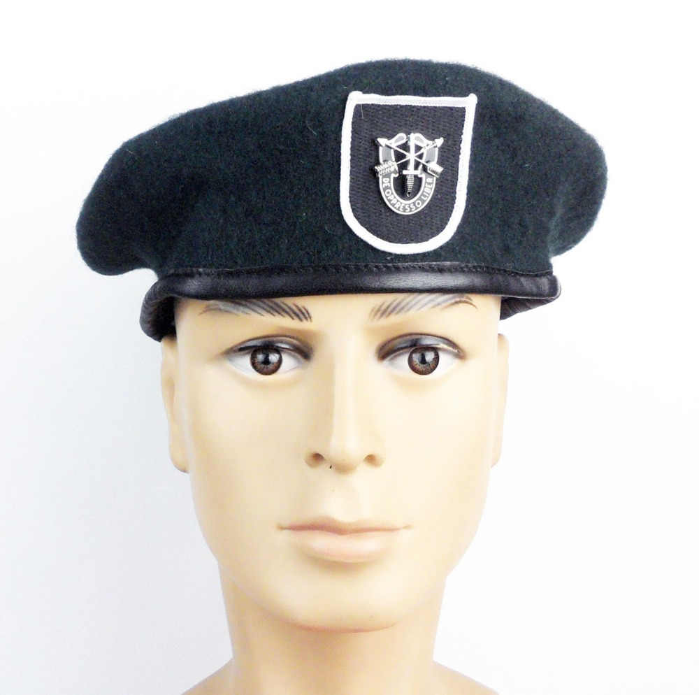06b17b42265 Detail Feedback Questions about US Army Special Forces Green Beret Black  Flash   Cap Badge US Military Hat World military Store on Aliexpress.com