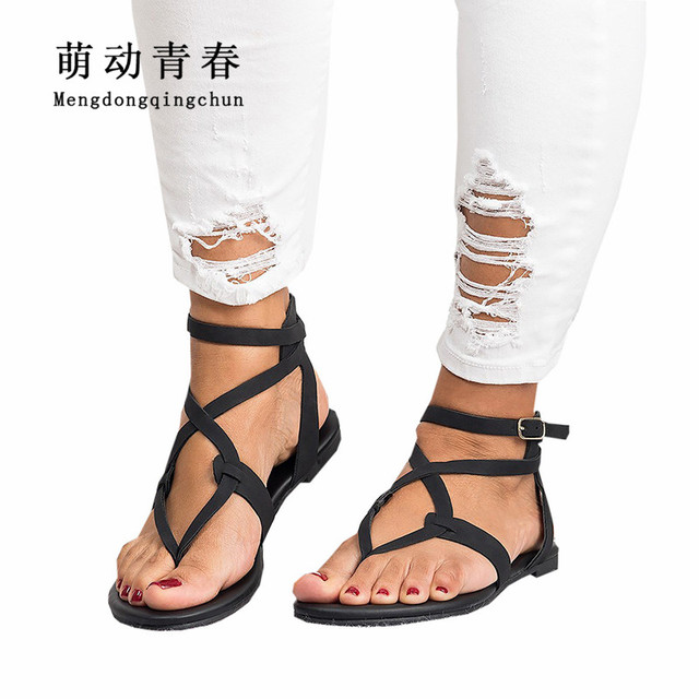 hot Us13 2018 Zapatos In Sandals Flat Summer 50Off Women 45 Buckle Strap Sale Flop Heels Fashion Beach Gladiator Flip e9IDH2WEY