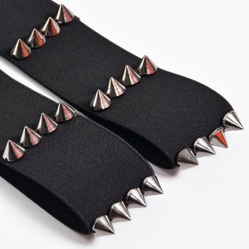 Gothic Kawaii PAIR spiked garters elastic garters BDSM grunge punk fetish bondage garter alternative sexy witch spiked garter 2
