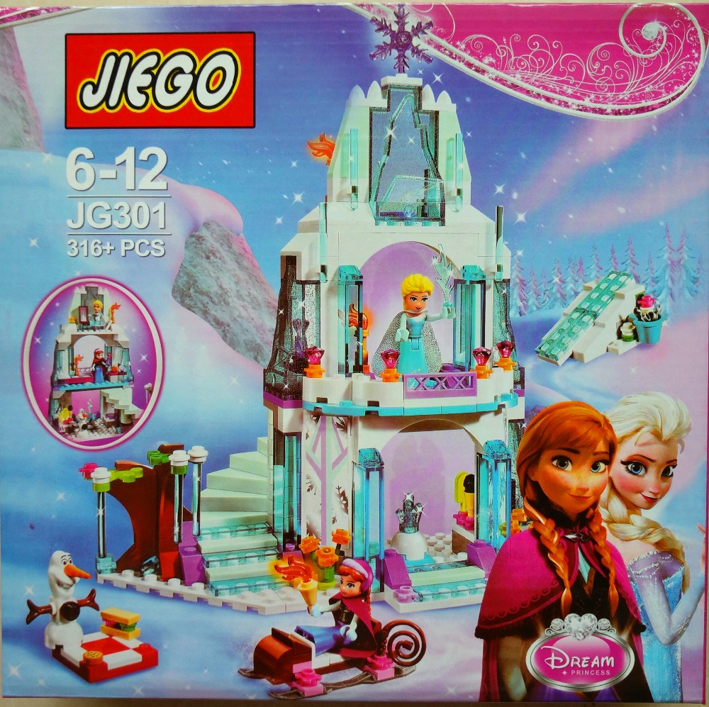 Girls Friends 41062 Elsa's Ice Castle Building Blocks Princess Anna Olaf Minifigures Gifts Toys Compatible Legoe