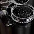 The new acrylic nails decorative sequins glittering armor  UV minimum airflow Pure black N36