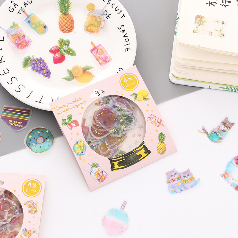 Wonderful Magic Crystal Ball Decorative Stickers Adhesive Stickers DIY Decoration Diary Stationery Stickers Children Gift