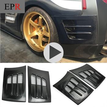 Auto-styling Per Nissan R35 FRP In Fibra di vetro TS Style Parafango Posteriore Paraurti Aggiungi Su Fibra di Vetro Posteriore Trim Accessori