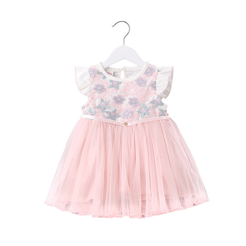 Baby Girls Clothes Newborn Baby Dresses for Girl Lace Princess Party Baptism Dresses Puff Sleeve Embroidery Baby Outfits Clothes