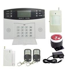 (1 zestaw) system alarmowy do domu 433 MHz Bezprzewodowy czujnik ruchu PIR drzwi skontaktuj się z PANEL LCD system alarmowy GSM wewnętrzny sygnalizator akustyczny w Zestawy systemów alarmowych od Bezpieczeństwo i ochrona na