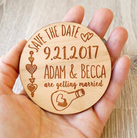Personalized Save The Date Magnet Wish Bottle Wedding Favors Lucky Bridal Shower Favor Tags Custom Birthday