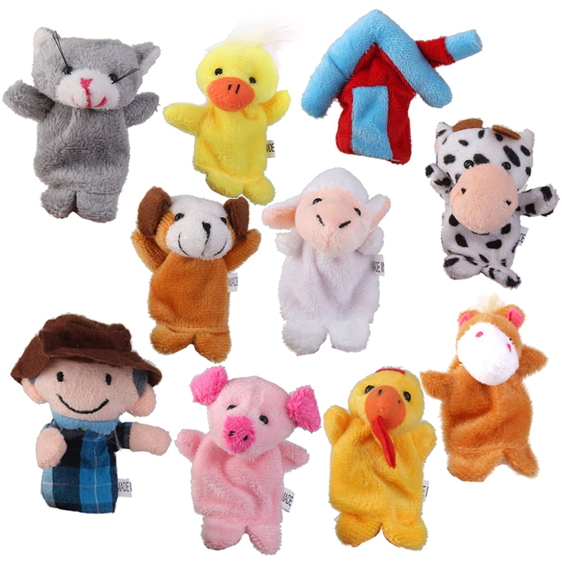 Old MacDonald Farm Animals Finger dolls Children Prefer Toys 10pcs