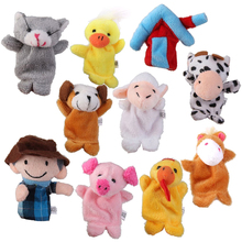 Old MacDonald Farm Animals Finger dolls Children Prefer Toys 10pcs